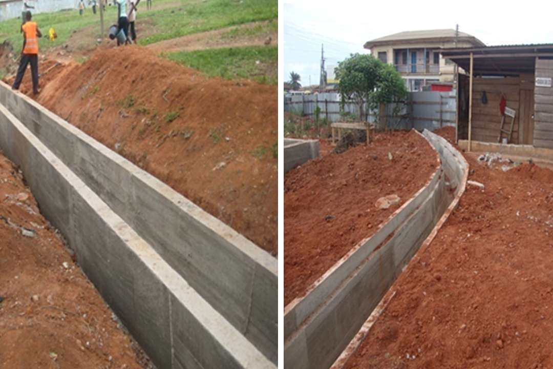 CONSTRUCTION OF U DRAIN AT ADUKROM AND KROFROM MARKET